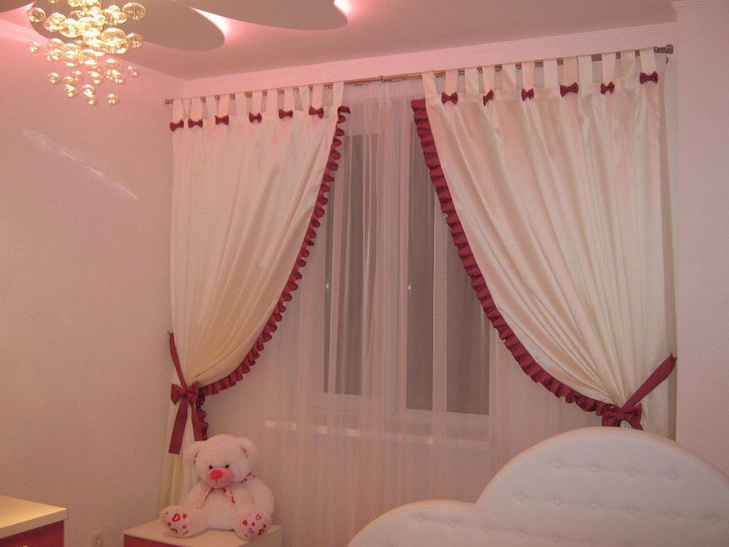 Занавески в спальню для детей фото